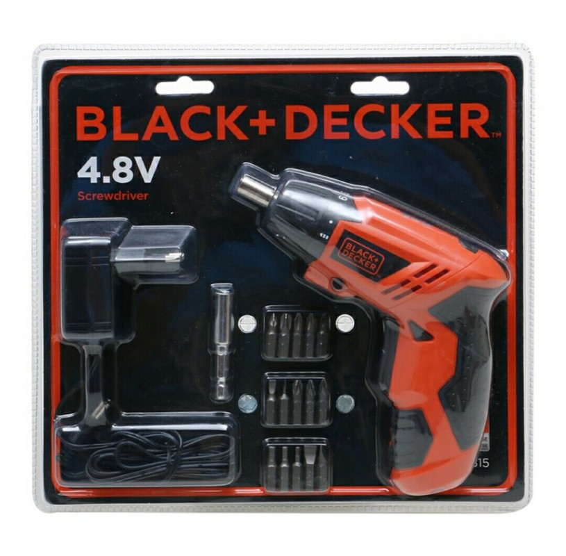 black and decker tools. obeng elektrik screwdriver 4.8 v ni-cd black and decker kc-4815 b1 tools